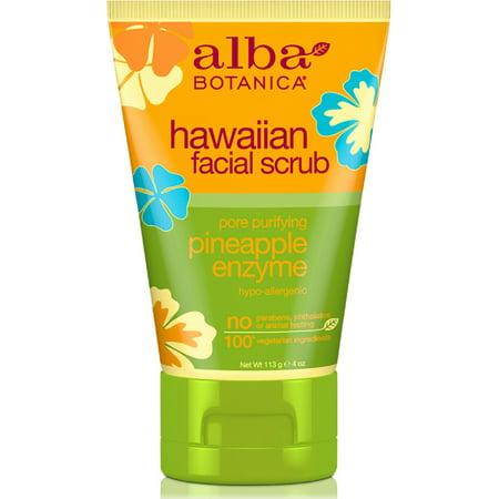 Alba Botanica Hawaiian Facial Scrub, Pore Purifying Pineapple Enzyme 4 oz