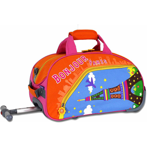 "J World Paris Kids' 17"" Rolling Duffel Bag"