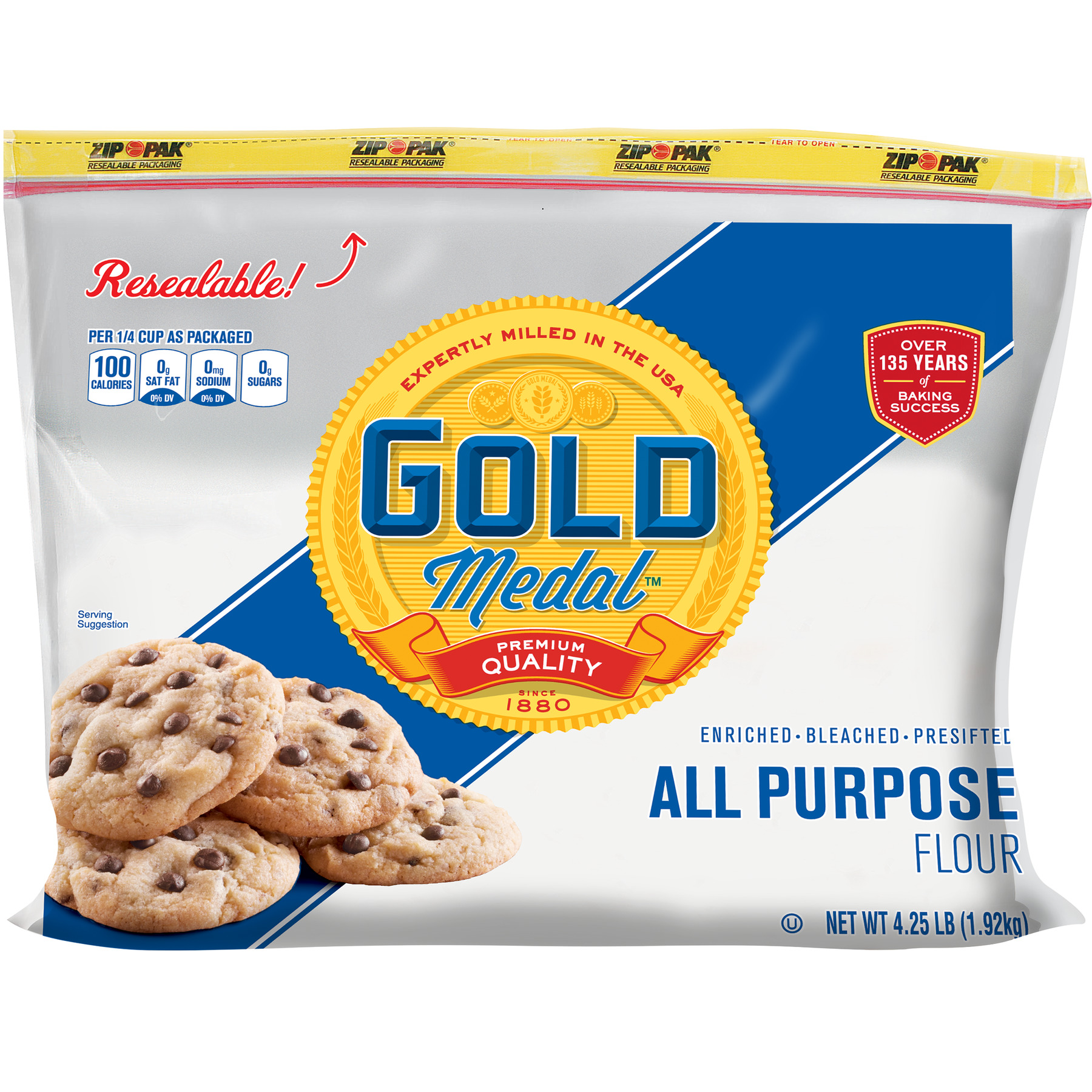 Gold Medal All-Purpose Flour Resealable Bag, 4.25 lb