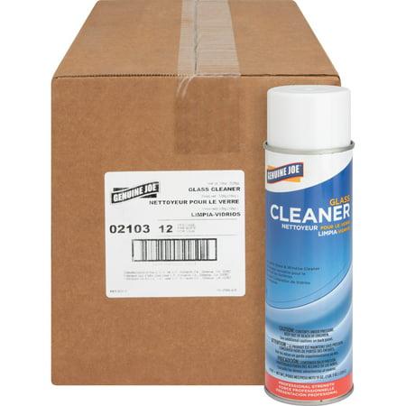 Genuine Joe Antibacterial (Genuine Joe, GJO02103CT, Glass Cleaner Aerosol, 12 / Carton )
