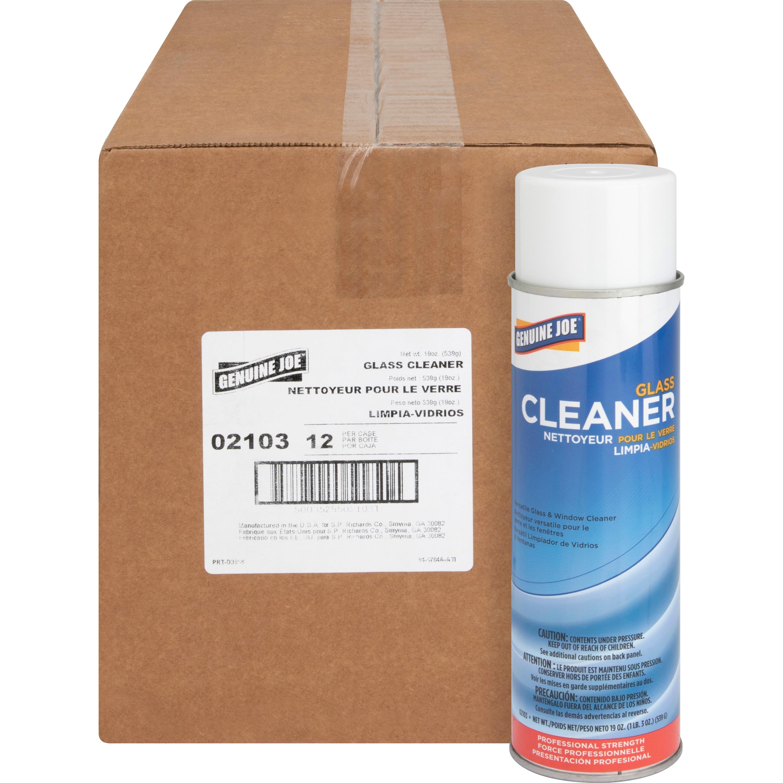 Genuine Joe, GJO02103CT, Glass Cleaner Aerosol, 12 / Carton