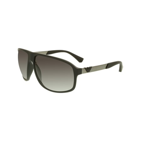 Emporio Armani Men's Gradient EA4029-50638G-64 Black Square (Armani Folding Sunglasses)