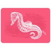 Bungalow Flooring Premium Comfort Pink Seahorse Mat