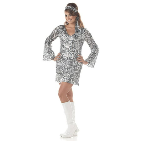 60's Disco Diva Dress Costume Adult Plus (Funny 60s Costumes)