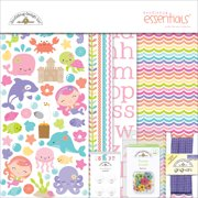 """Doodlebug Essentials Page Kit, 12"""" x 12"""", Under The Sea"""