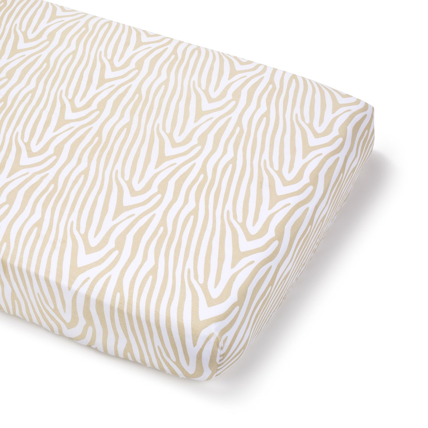 Summer Infant Full Size Crib Sheet - Beige Zebra