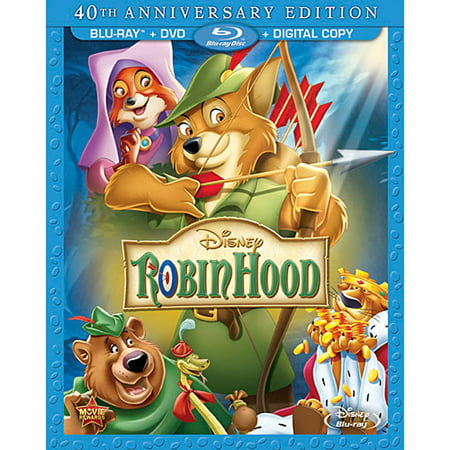 Robin Hood (40th Anniversary Edition) (Blu-ray + DVD + Digital - Naughty Robin