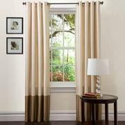 "Prima Ivory/Taupe Window Curtains, Pair, 54"" x 95"""