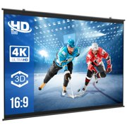 """VIK Projector Screen, 80"""" 16:9 HD Foldable Anti-Crease Portable Projection Movies Screen for Home Theater Outdoor/Indoor Support Double Sided Projection"""
