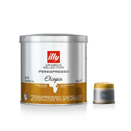 illy Arabica Selections iperEspresso Capsules Etiopia Espresso Coffee, 21 Ct, Single Tin ()