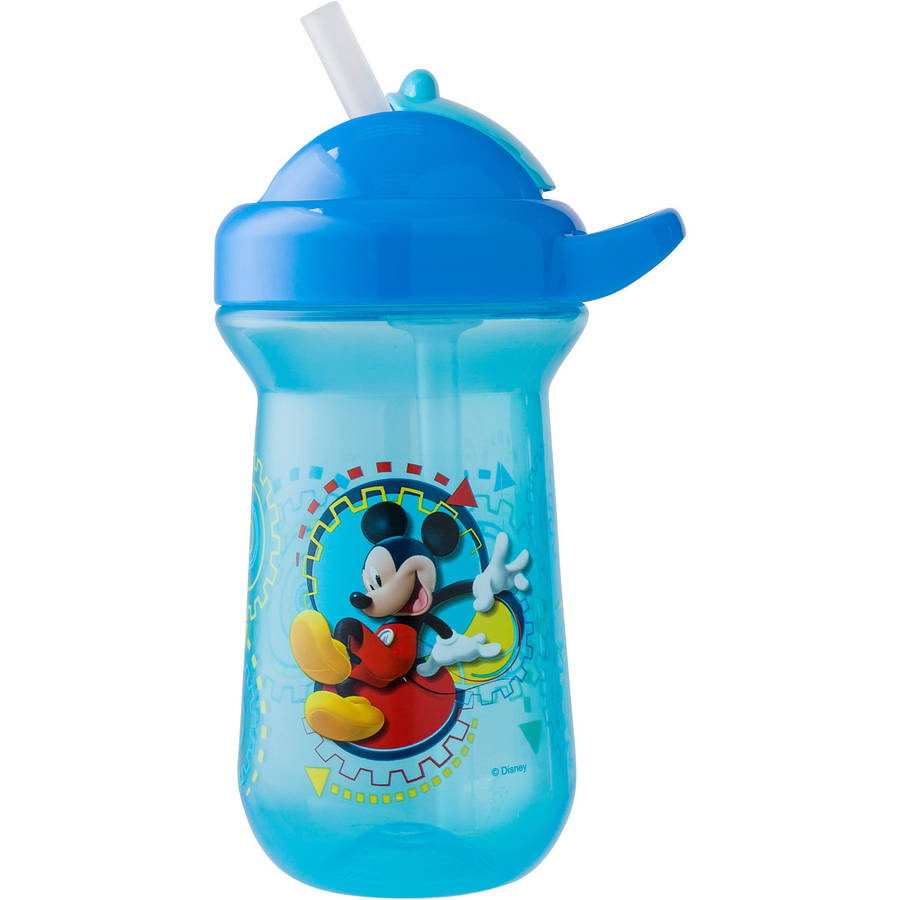 The First Years Disney Baby Mickey Mouse Flip Top Straw Cup, 10 oz