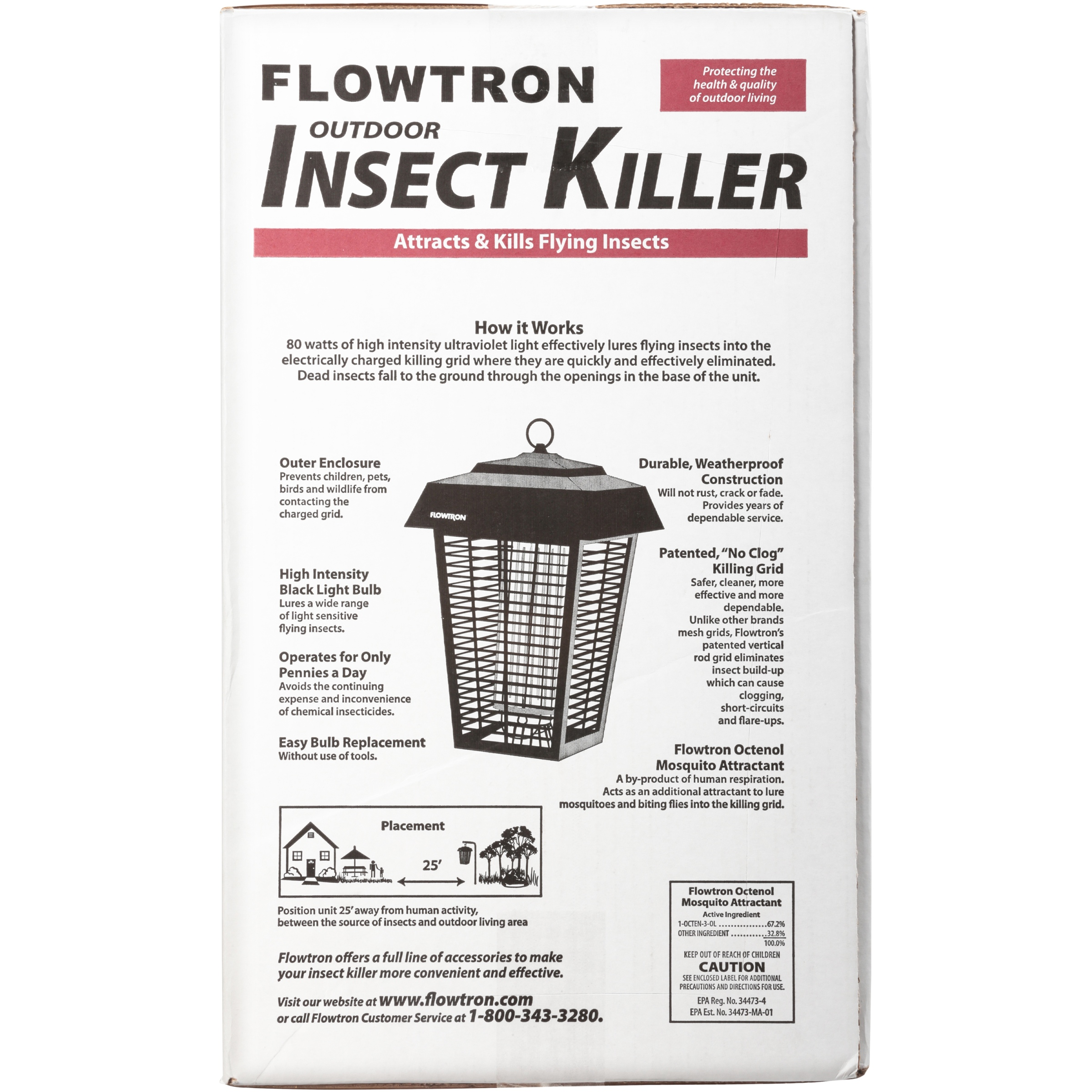 Flowtron Electric Insect Killer, 1 5 Acres