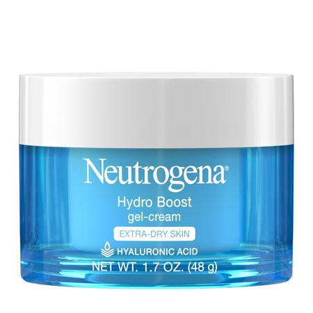 - Neutrogena Hydro Boost Hyaluronic Acid Gel Face Moisturizer to hydrate and smooth extra-dry skin, 1.7 oz