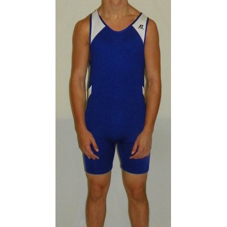 Men's Wrestling Sprinter Singlet Suit Large Royal Blue and W...Large Royal Blu, By Russell Athletic