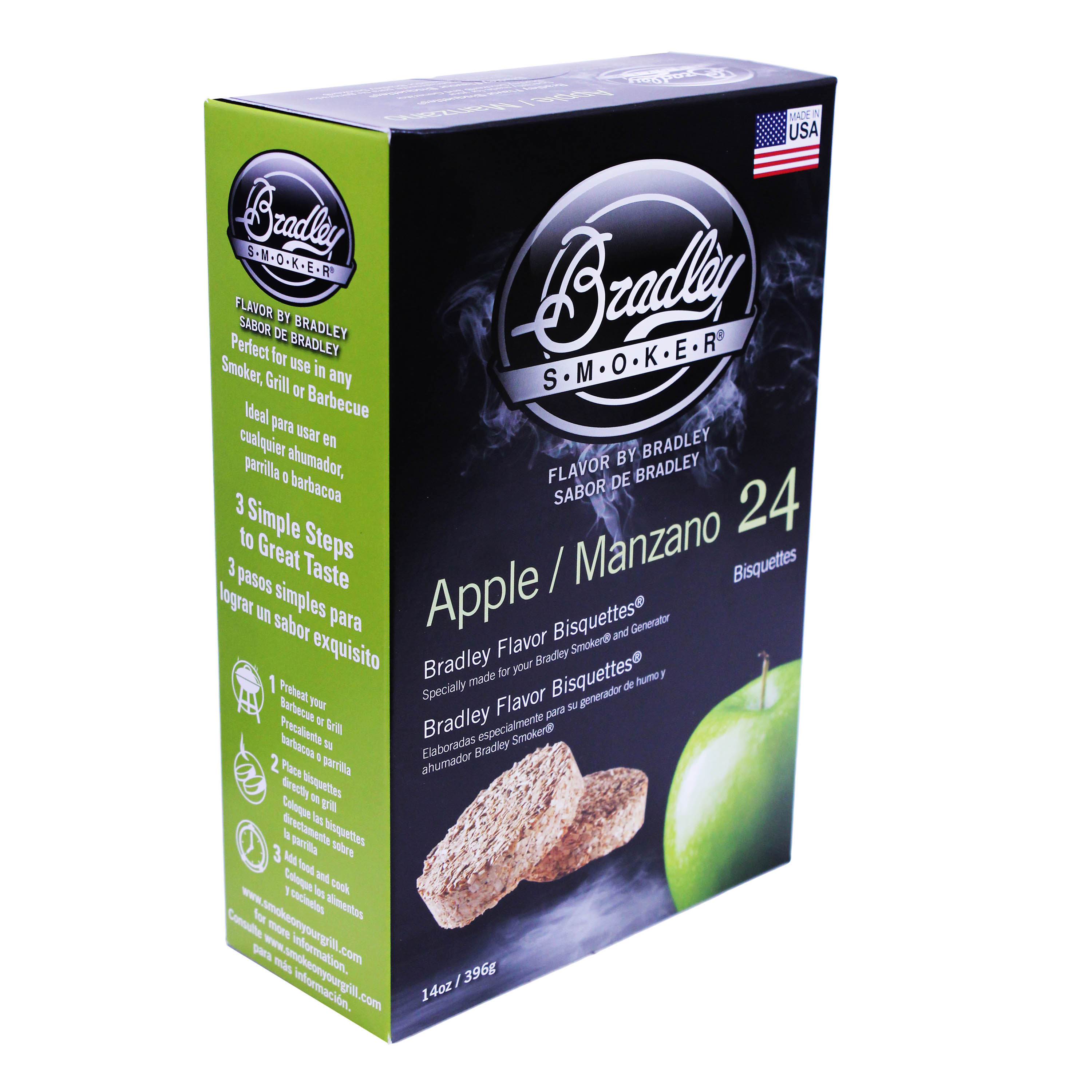 Bradley Smokers Smoker Bisquettes Apple (24 Pack)