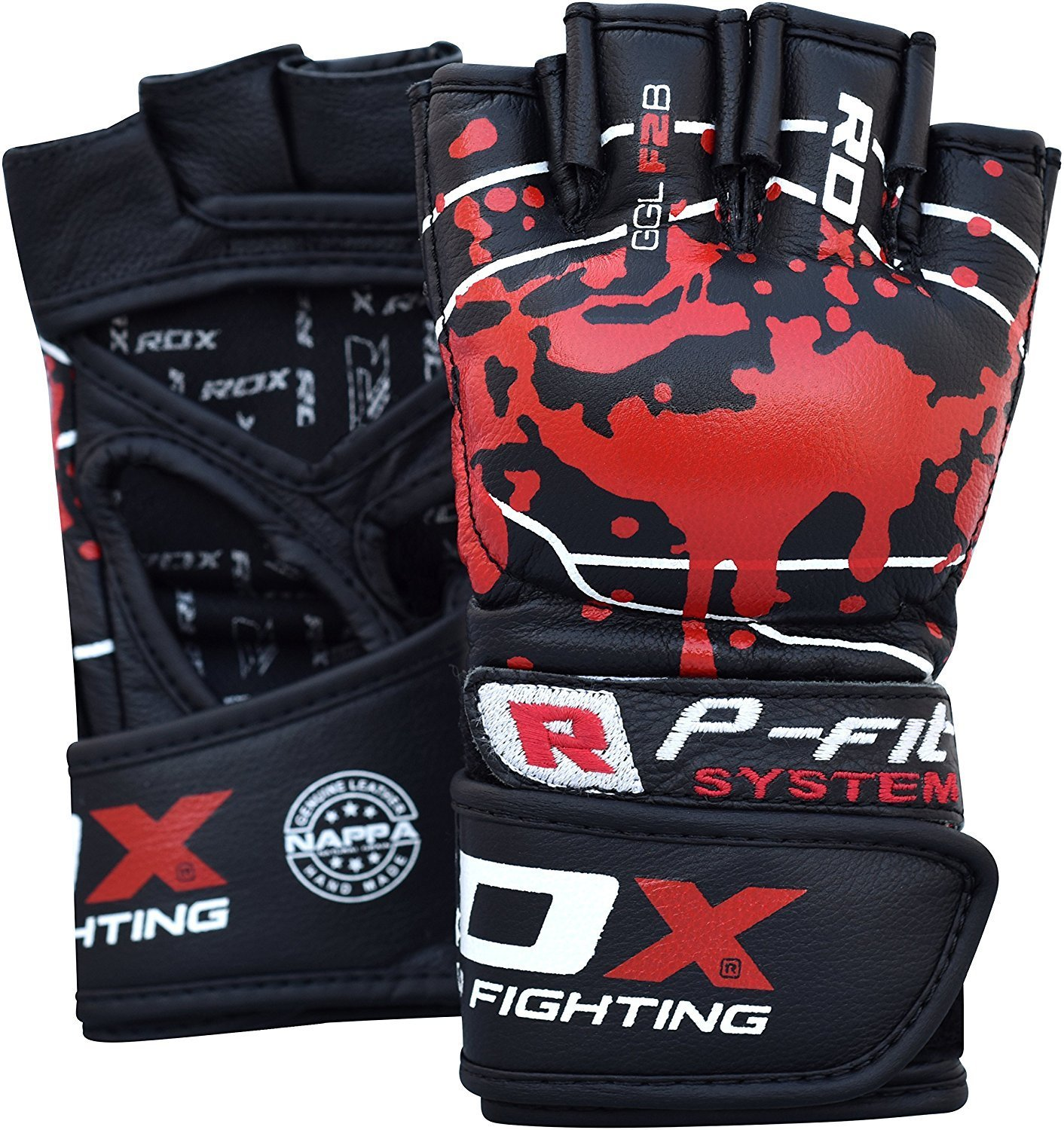 RDX Cowhide Leather MMA Grappling F2 Gloves Fight Boxing Training Punching Sparring