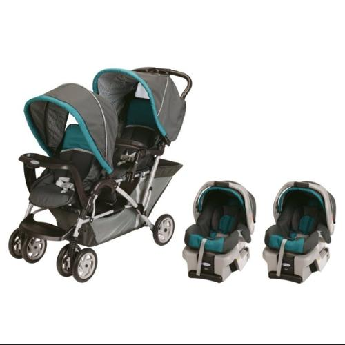 Graco Duoglider Folding Double Baby Stroller W 2 Car