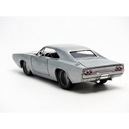 "Dom\'s 1970 Dodge Charger R/T Bare Metal ""Fast & Furious 7\"" Movie 1/24 Diecast Model Car by Jada - image 2 of 6"
