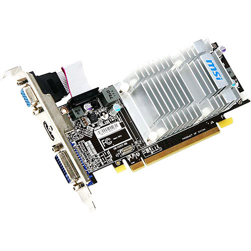 MSI Radeon HD 5450 R5450-MD1GD3H/LP 1GB DDR3 PCI Express Video Card