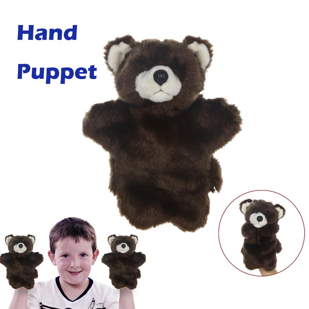 Mosunx Cute Cartoon Animal Doll Kids Glove Hand Puppet Plush Finger Toys Raccoon