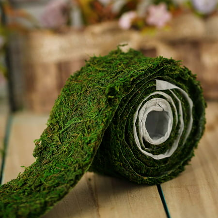 BalsaCircle Green Natural Moss Ribbon Roll Party Crafts Wedding Reception Home Event Draping DIY Discounted Decorations Supplies