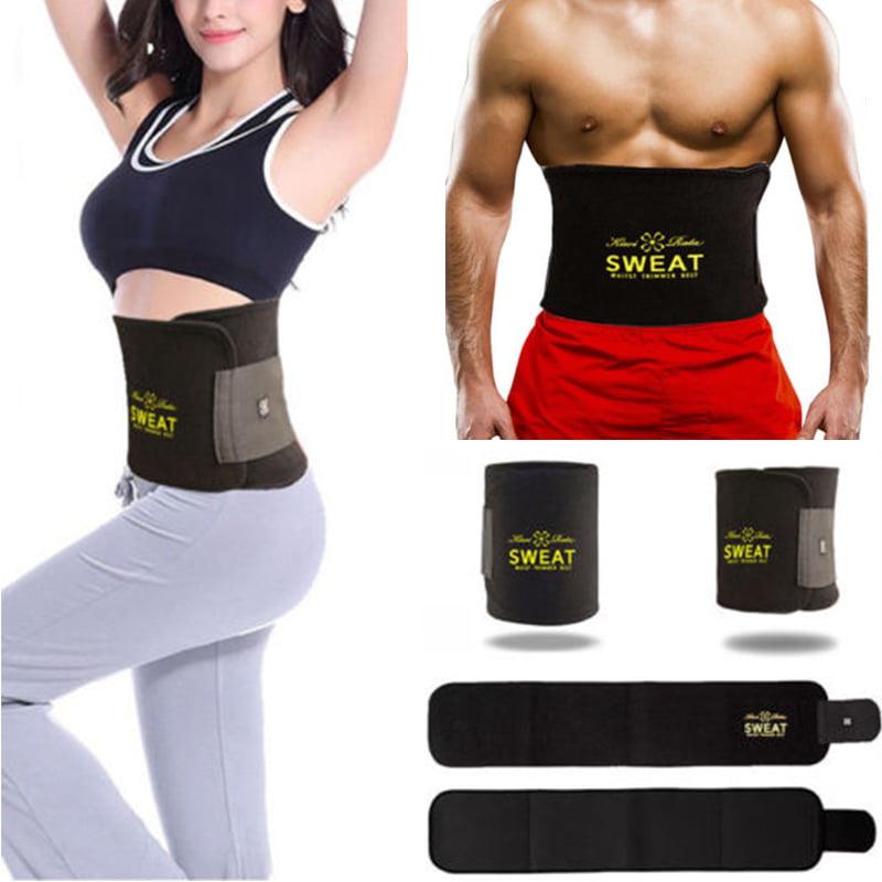 Neoprene Sauna Waist Trainer Slimming Belt Sweat Belt  Shaper Fat Burn