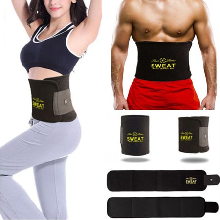 SLIMBELLE Waist Trainer Slimming Belt Hot Neoprene Sauna Sweat Belly Band Girdle for Weight