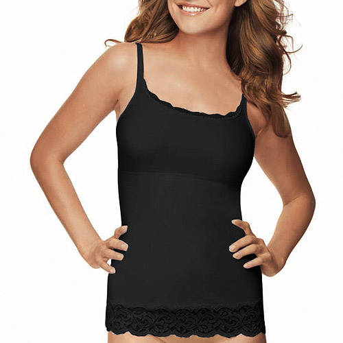 FLEXEES by Maidenform Firm Control Shapewear Lace Trimmed Cami, Style 83666