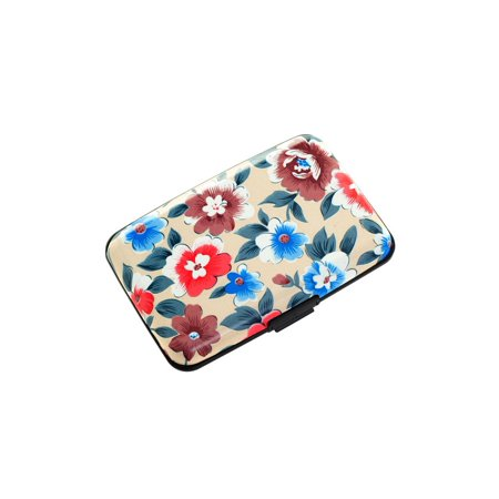 fc0d37836896 Plixio Flower Alumium Wallet & Credit Card Case with RFID Protection