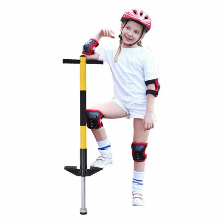Gymax Padded Single Pogo Stick Jump Stick Children Balance Training Interior