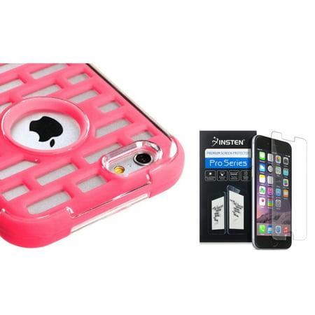 Insten Lightning Pink Brick GloCase Hybrid Armor Case For iPhone 6S / 6 4.7