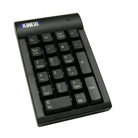 Kinesis Corporation Ac210usb-blk Kinesis Low-force Keypad For Pc Black (ac210usbblk)