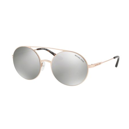 Michael Kors Women's Cabo MK1027 MK/1027 11166G Rose Gold Round Sunglasses 55mm