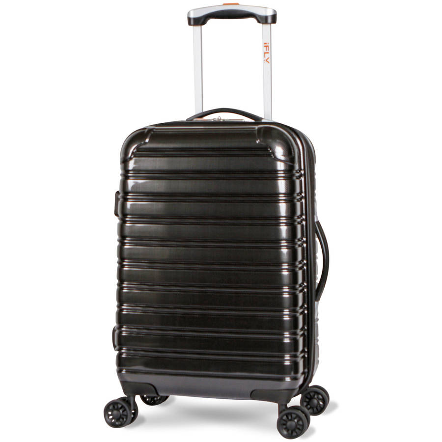 "iFLY Hard Sided Carry On Luggage Fibertech 20"", Black"
