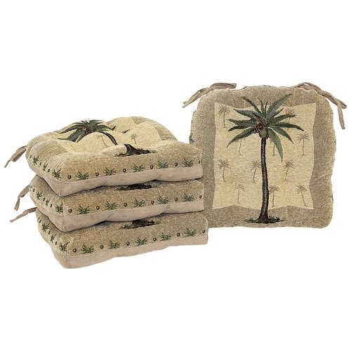 Better Homes and Gardens Palm Tree Chair Pad with Ties, Pack of 2