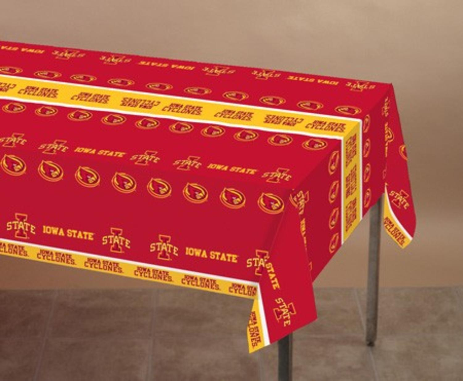 "Pack of 12 NCAA Iowa State Cyclones Tailgating Banquet Tablecloths 54"" x 108"" by Party Central"