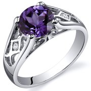 1.75 Ct Created Alexandrite Engagement Ring in Rhodium-Plated Sterling Silver