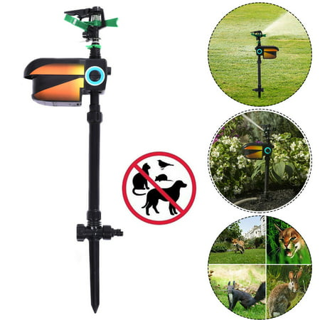 Costway Solar Powered Motion Activated Animal Repellent - Sprinkler Stand