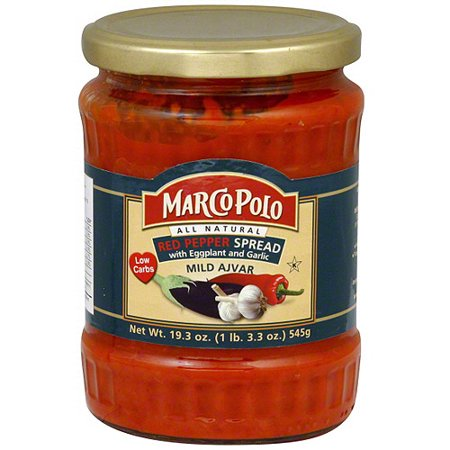 Marco Polo Red Pepper Spread With Eggplant And Garlic, 19.3 oz (Pack of 12)