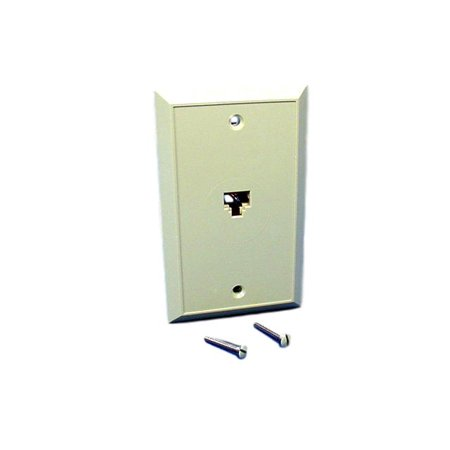 Jack Plate 8' Setback - Leviton Ivory Type 625B4 Telephone 8-Wire Phone Jack Wallplate Cover 4625B-48I