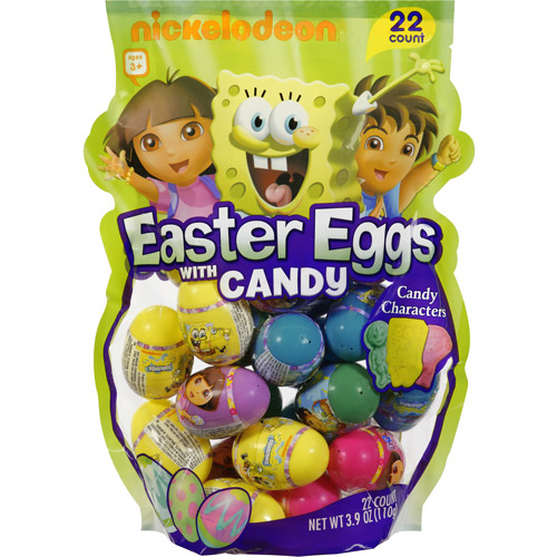 Frankford Nickelodeon Easter Eggs with Candy, 22ct