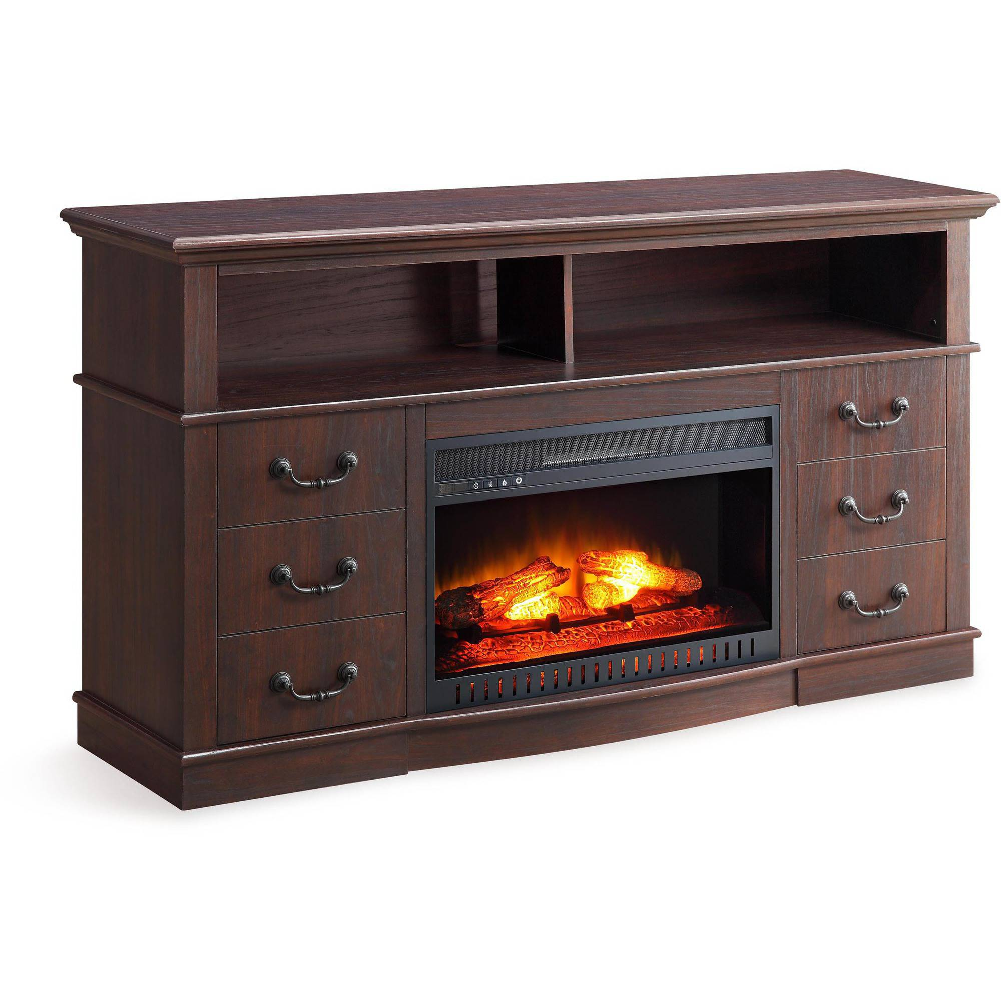 Better Homes and Gardens Media Fireplace Console for TVs up to 70 ...