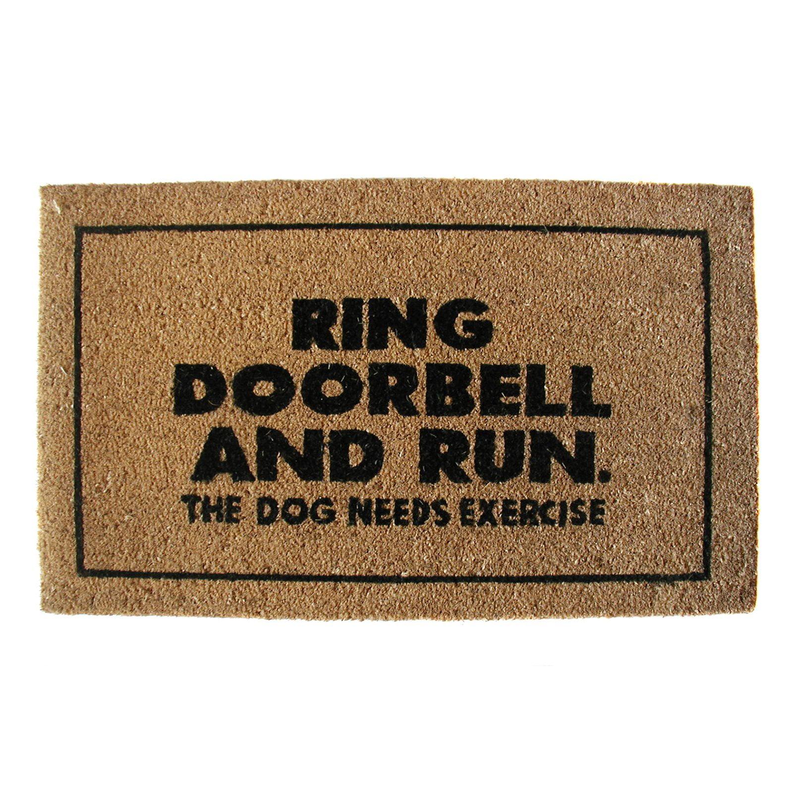 Geo Crafts Ring Doorbell And Run Door Mat