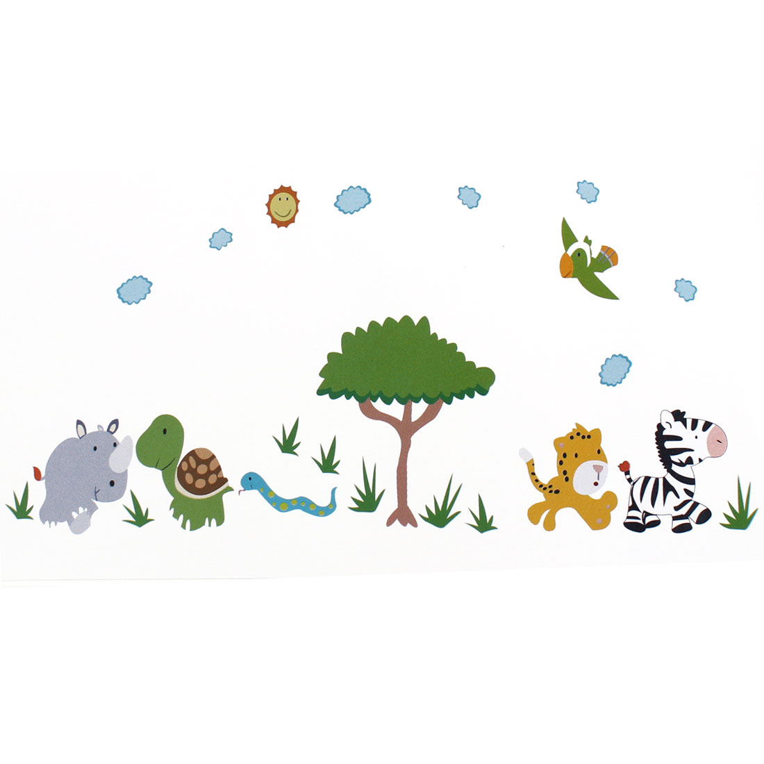 Unique Bargains Cartoon Animal Pattern Removable Wall Decal Sticker DIY Wallpaper Decor