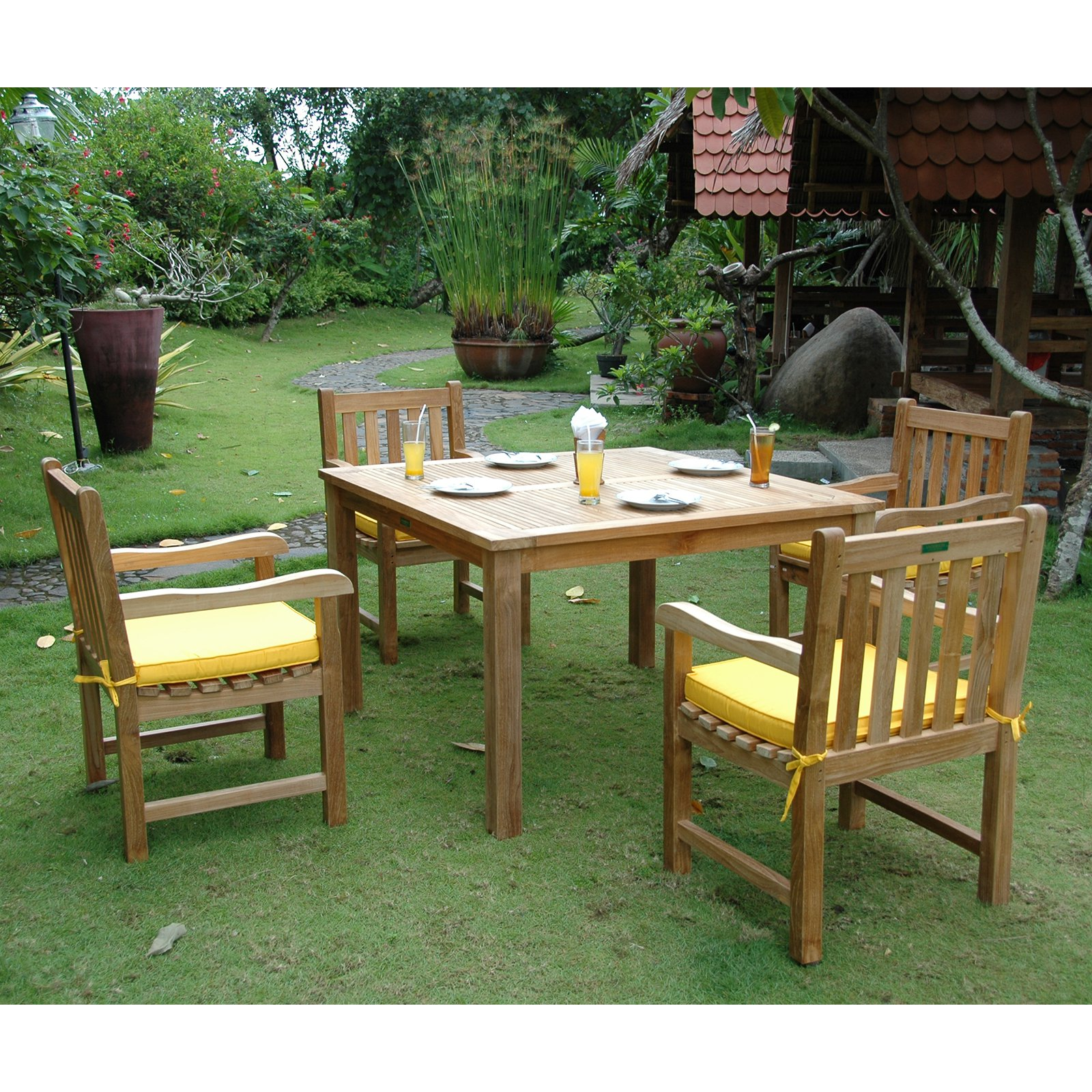 Anderson Teak Classic 5 Piece Patio Dining Set