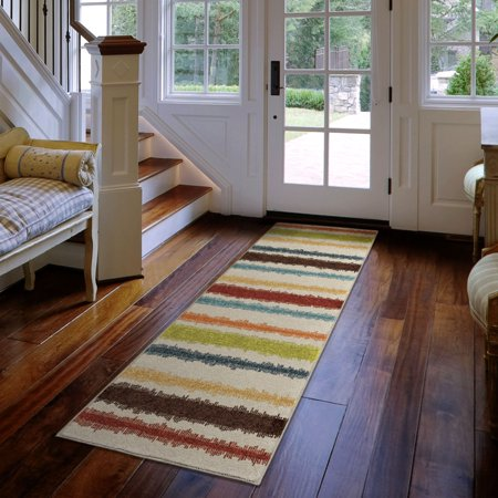 Orian Rugs Bright Colors Stripes Lines of Color Multi Runner, 2