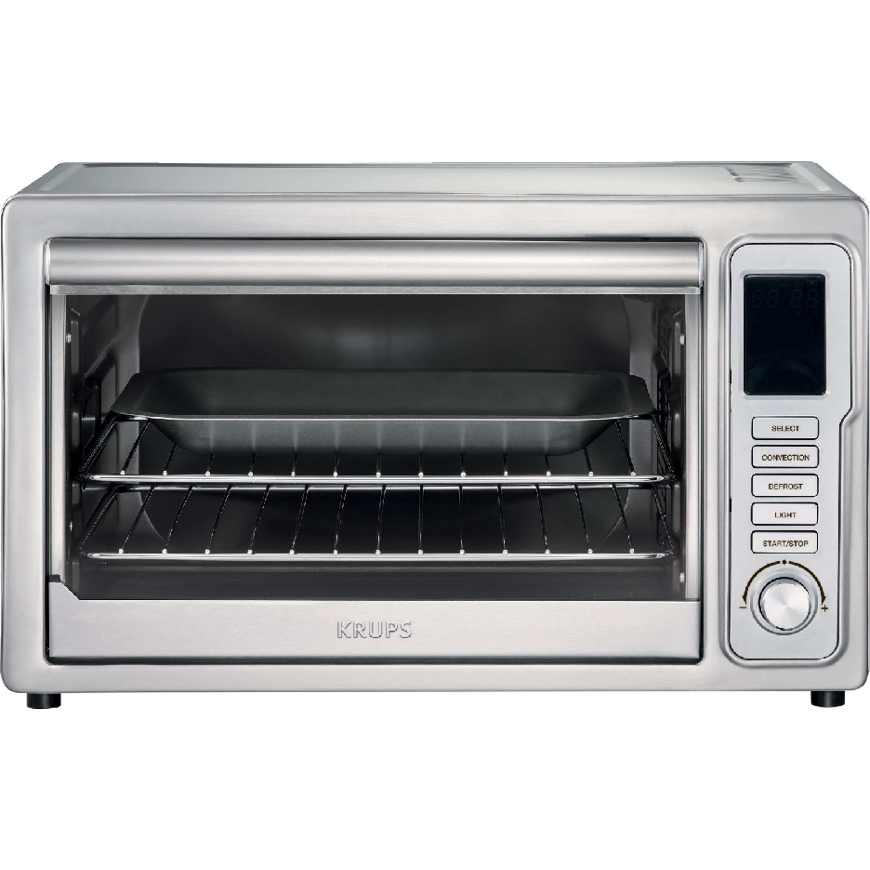 6 slices with 8 preset functions and Adjustable cooking time Silver KRUPS OK710D51 Stainless Steel Deluxe Oven