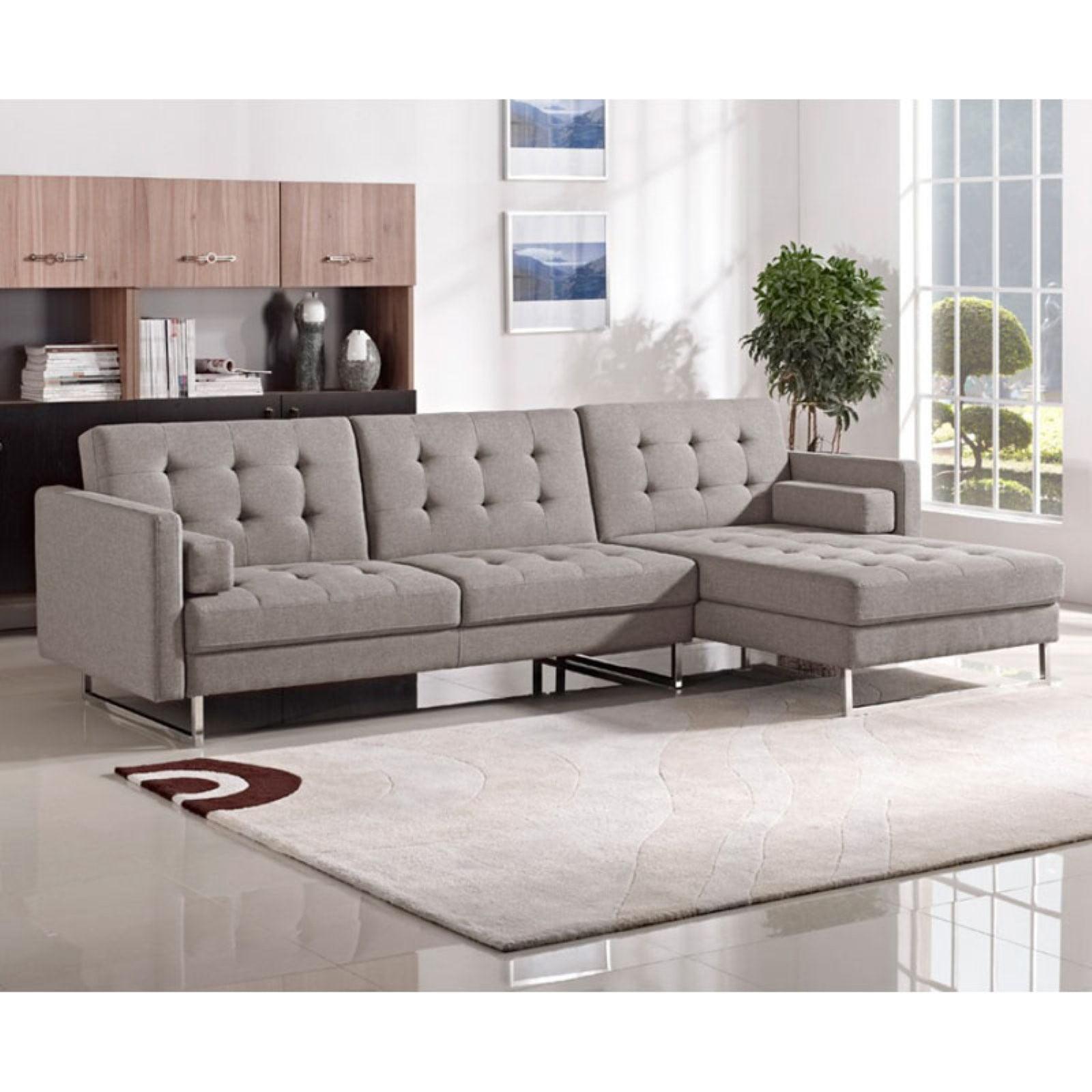 Divani Casa Smith Modern Fabric Sectional Sofa - Walmart.com