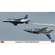 "1/72 Kawasaki T-4""Blue Impulse 2015% Daburuku~ote% (two aircraft set)"