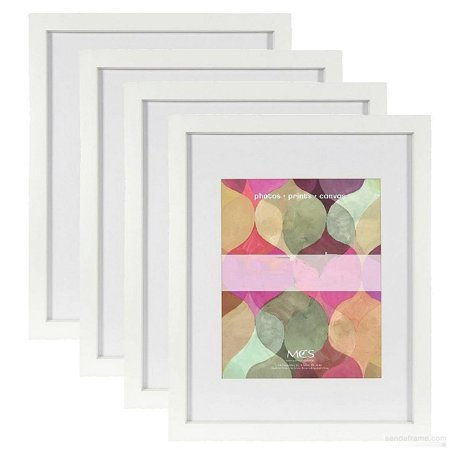 4 pack) 4-Pack Art Shadow-Box 1-3 8in depth White Wood 24x30 frame ...